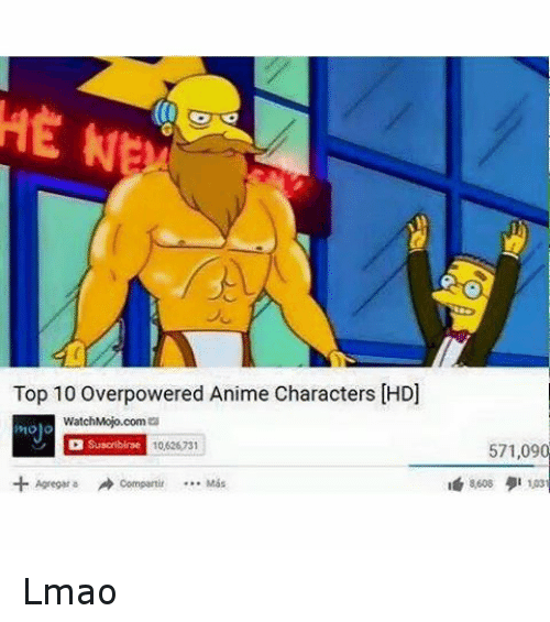 Animals, Anime, and Lmao: Top 10 Overpowered Anime Characters Lmao