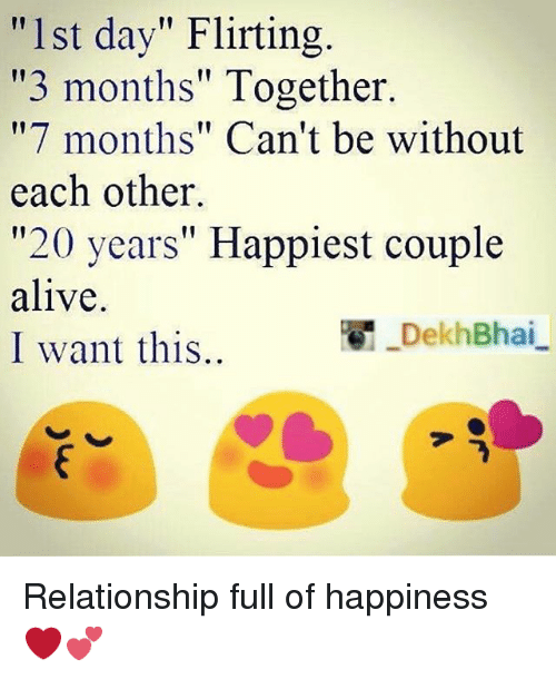 3 months in relationship