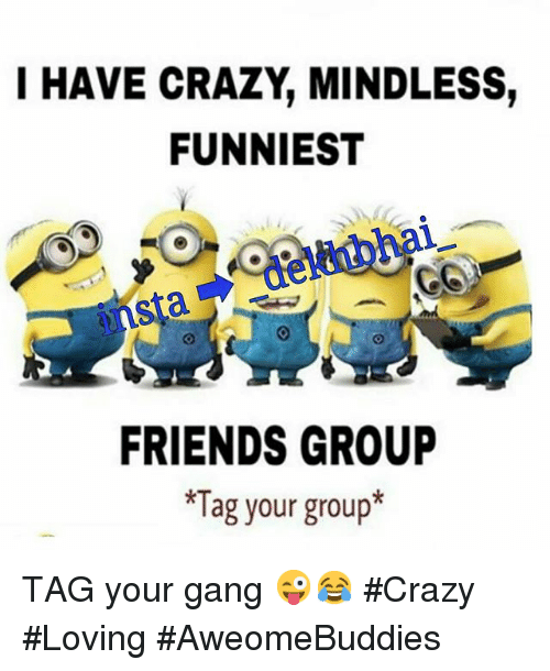 I Have Crazy Mindless Funniest Friends Group Tag Your Group Tag