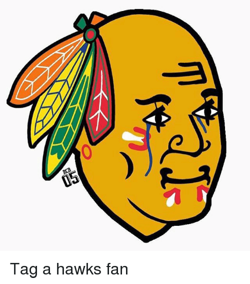 National Hockey League (NHL), Hawks, and Tagged: RCB Tag a hawks fan