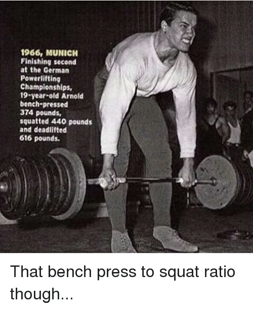 Instagram That bench press to squat ratio e7be06 1966 munich finishing second at the german powerlifting