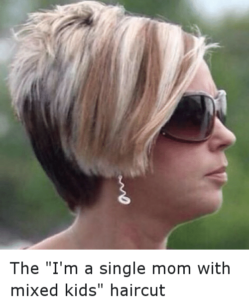 The Im A Single Mom With Mixed Kids Haircut Funny Meme On Me