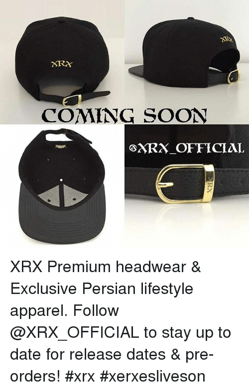 XTRA COMING SOON GXRX OFFICIAL XRX-Premium Headwear   Exclusive Persian  Lifestyle Apparel -Follow to Stay Up to Date for Release Dates    Pre-Orders!- 1dfa8027551