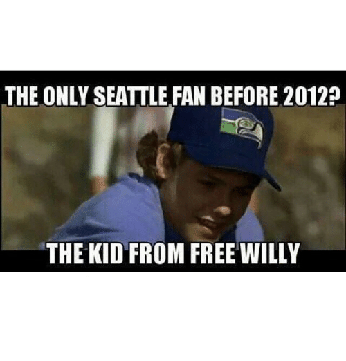 Funny, Free, and Kids: THE ONLY SEATTLE FAN BEFORE 2012?  THE KID FROM FREE WILLY  T