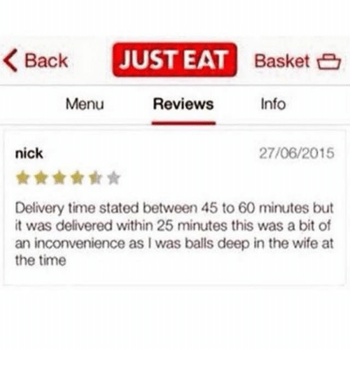 just eat review funny