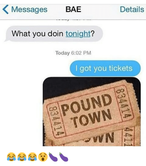 One Way Ticket To Pound Town