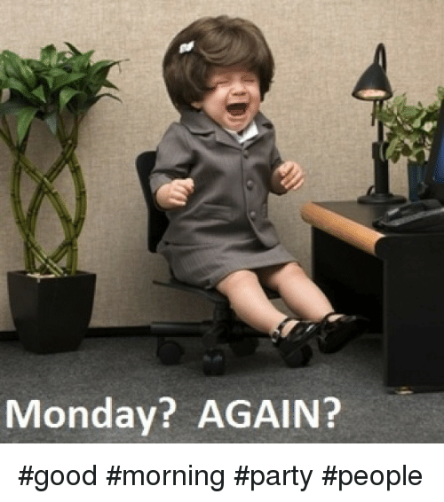 Instagram good morning party people d7acc6 monday? again? good morning party people funny meme on me me,Good Monday Morning Meme