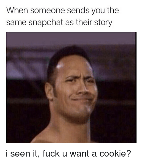 Instagram i seen it fuck u want aa7322 when someone sends you the same snapchat as their story i seen it