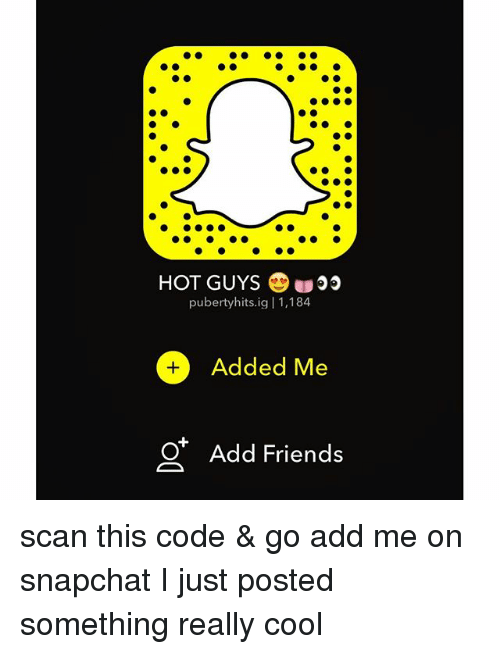 Hot guys to add on snapchat