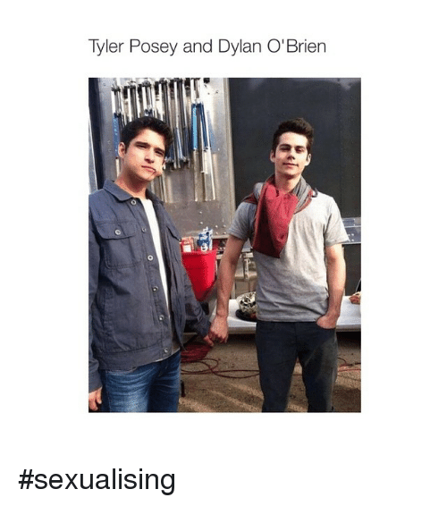 Tyler Posey And Dylan Obrien Sexualising Dylan Obrien Meme On Me