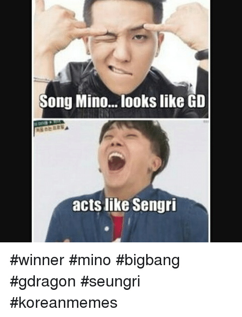 Songs, Korean, and Acting: Song Mino... looks like GD acts