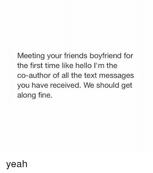 Meeting Someone For The First Time