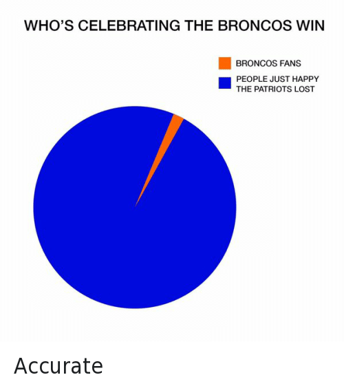 Denver Broncos, Football, and New England Patriots: WHO'S CELEBRATING THE BRONCOS WIN  BRONCOS FANS  PEOPLE JUST HAPPY  THE PATRIOTS LOST Accurate
