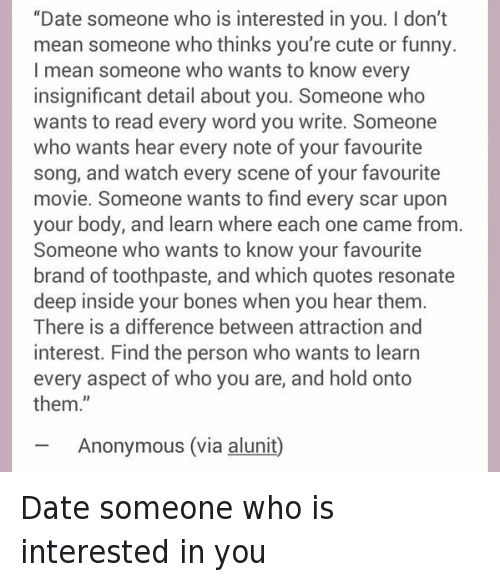 Dating When Someone Does Your Mean What That