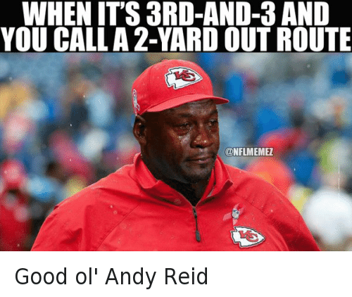 Twitter Good ol Andy Reid 688515571160367105 good ol' andy reid when it's 3rd and 3 and you call a 2 yard out