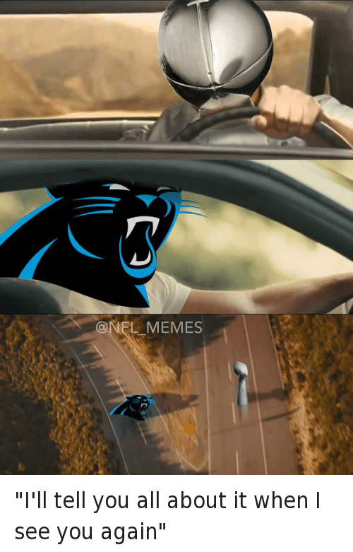 """Carolina Panthers, Football, and Nfl: """"I'll tell you all about it when I see you again"""""""