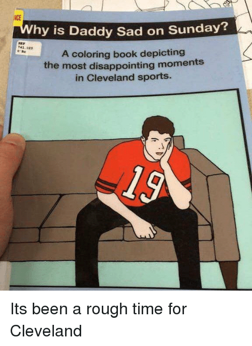 books disappointed and funny hy is daddy sad on sunday 741023 a - Cleveland Sports Coloring Book