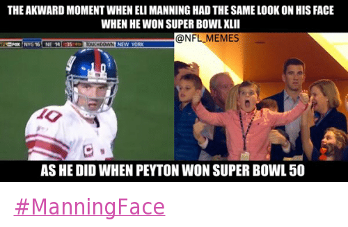 the awkward moment when eli manning had the same look on