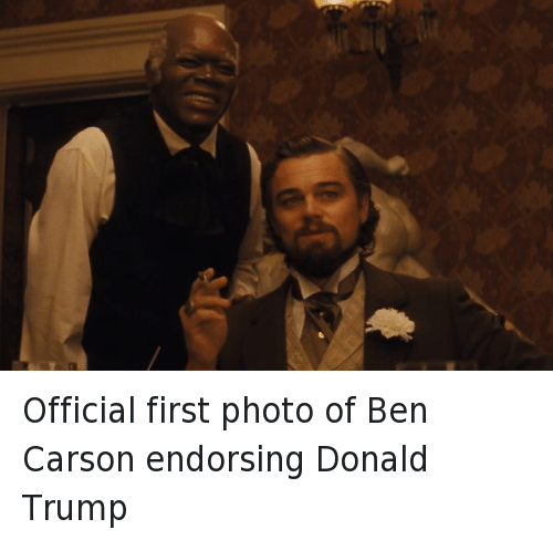 Twitter Official first photo of Ben Carson 8ed8bc official first photo of ben carson endorsing donald trump ben