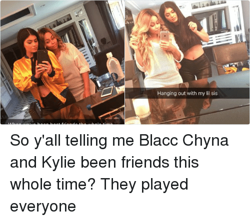 Blac Chyna 20s Ago Hanging Out With My Lil Sis Mag W 3m Ago When We