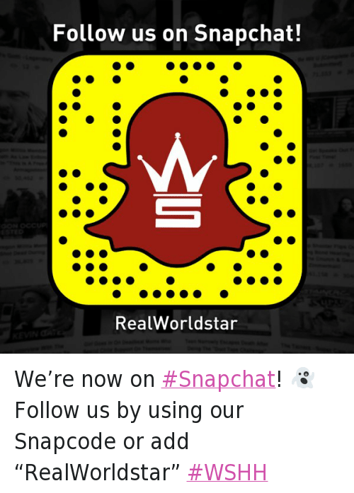 Twitter Were now on Snapchat Follow us 1c0d6f follow us on snapchat! real worldstar we're now on snapchat