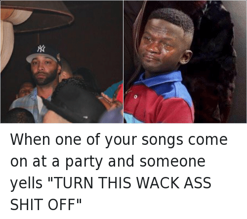 Ass, Michael Jordan Crying, and Music: When one of your songs come on