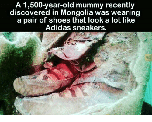 A 1,500 Year Old Mummy Wearing 'Adidas' Shoes Discovered In