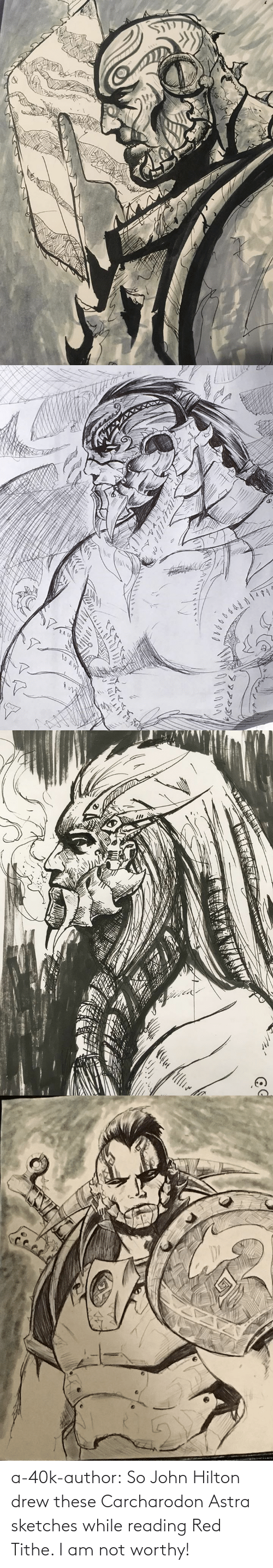 Tumblr, Blog, and Hilton: a-40k-author:  So John Hilton drew these Carcharodon Astra sketches while reading Red Tithe. I am not worthy!