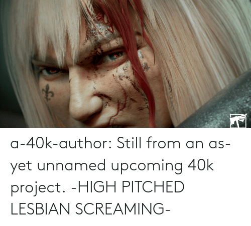 Tumblr, Blog, and 40k: a-40k-author:  Still from an as-yet unnamed upcoming 40k project.   -HIGH PITCHED LESBIAN SCREAMING-