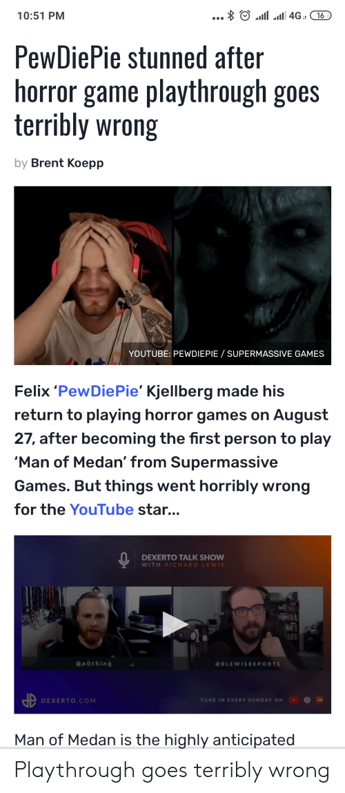 A 4GI16 1051 PM PewDiePie Stunned After Horror Game