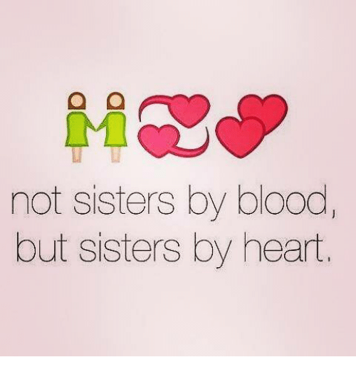 Wooden sign w vinyl quote...Best friends may not be sisters by blood by heart...