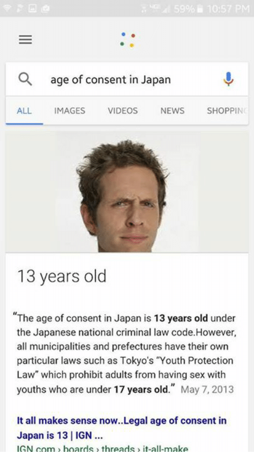 Japanese legal sexual age