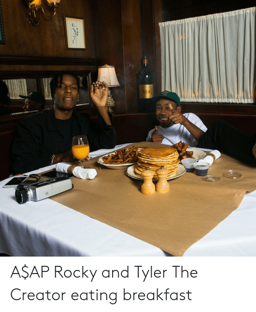 604b07d893b6 A AP Rocky and Tyler the Creator Eating Breakfast