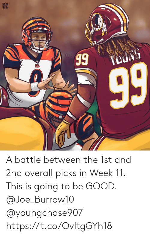 Memes, Good, and 🤖: A battle between the 1st and 2nd overall picks in Week 11.   This is going to be GOOD. @Joe_Burrow10 @youngchase907 https://t.co/OvItgGYh18