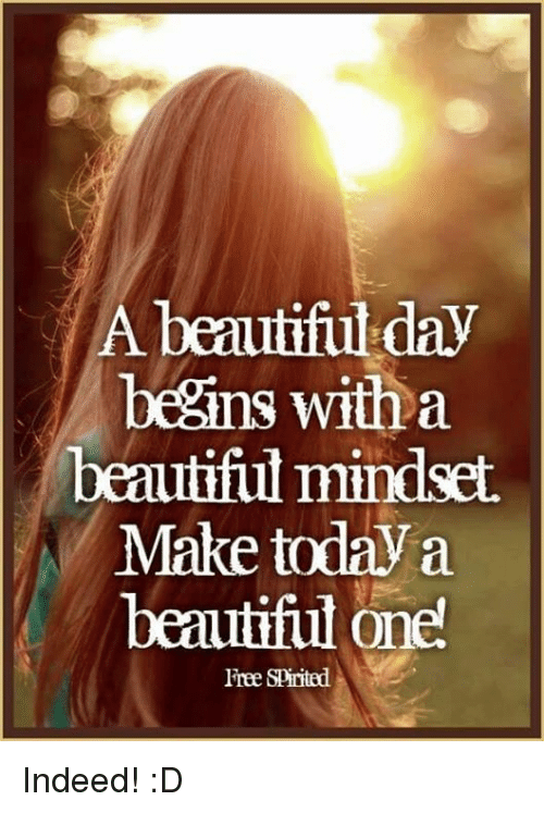 A Beautiful Day Begins With A Beautiful Mindset Quote 25+ Best Memes ...