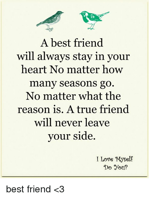 a best friend will always stay in your heart no matter how many
