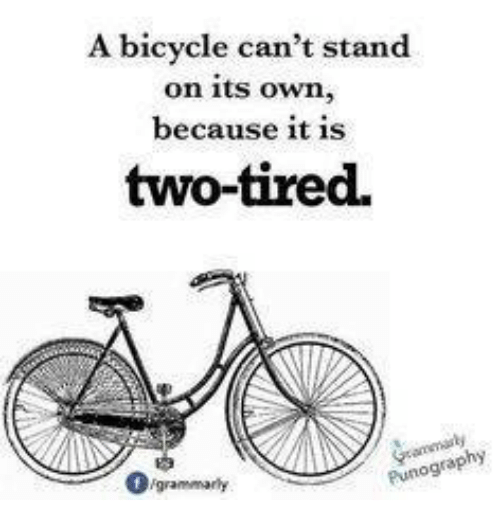 A Bicycle Can T Stand On Its Own Because It Is Two Tired