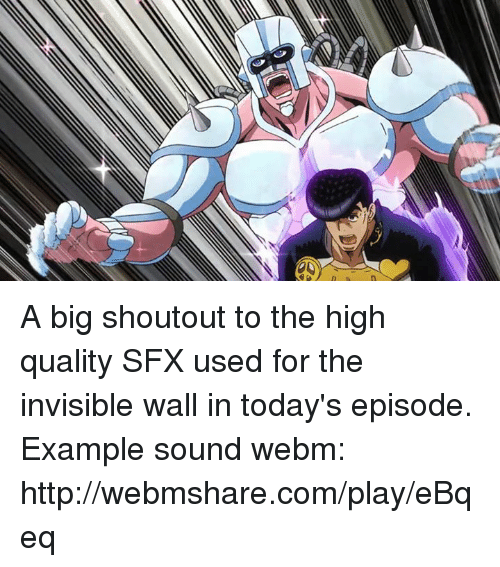 a big shoutout to the high quality sfx used for the invisible wall