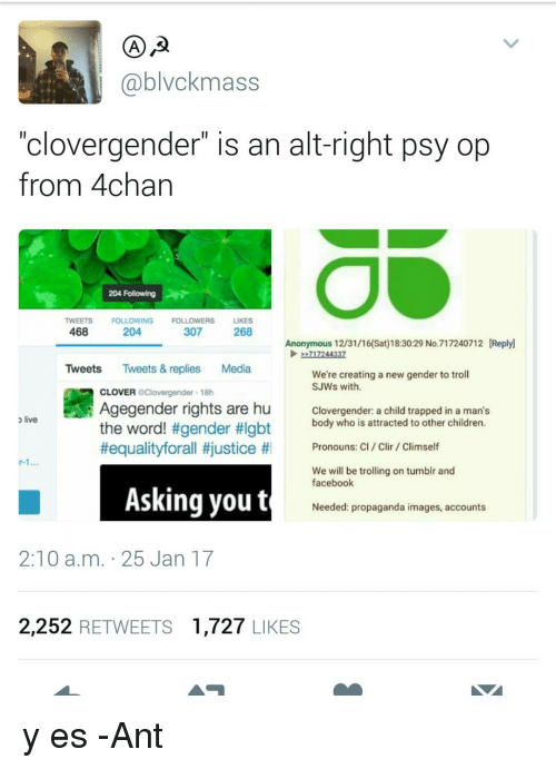A Blvckmass Clovergender Is An Alt Right Psy Op From 4chan 204