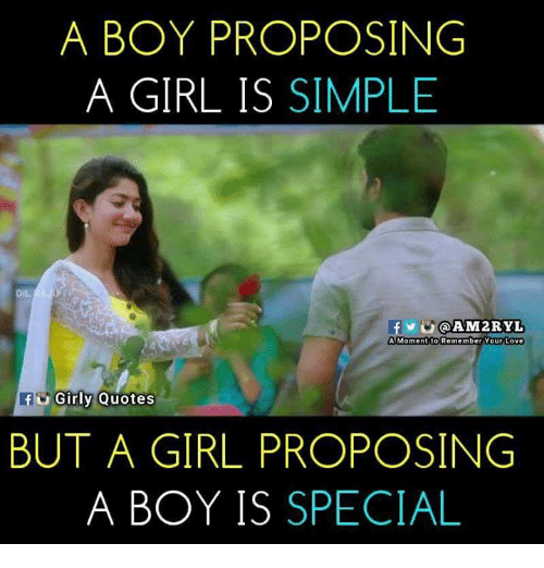 A Boy Proposing A Girl Is Simple Dil A Momentito Remember Your Love
