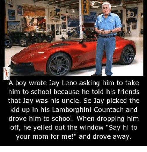A Boy Wrote Jay Leno Asking Him To Take Him To School Because He