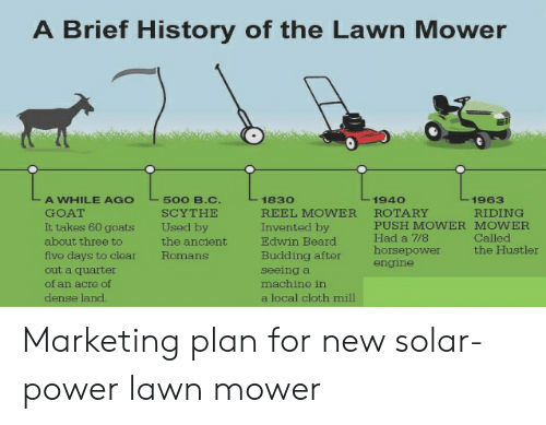 A Brief History of the Lawn Mower a WHILE AGO GOAT It Takes