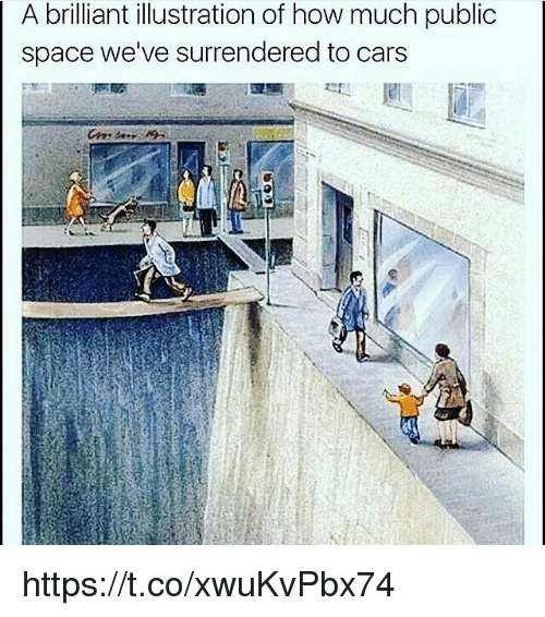Cars, Memes, and Space: A brilliant illustration of how much public  space we've surrendered to cars https://t.co/xwuKvPbx74