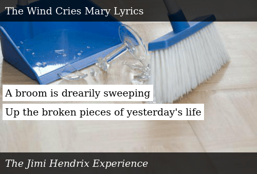 A Broom Is Drearily Sweeping Up the Broken Pieces of Yesterday's