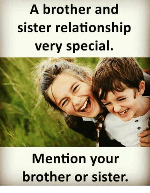 Memes  F0 9f A4 96 And Brother A Brother And Sister Relationship Very Special Mention Your