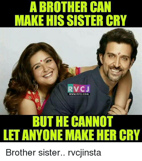 a brother can make hissister cry rv cj www rvcj com 10584429 ✅ 25 best memes about brother sister brother sister memes,Brother Sister Memes