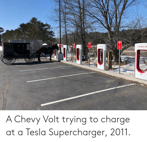 Chevy Tesla And Volt A Trying To Charge At