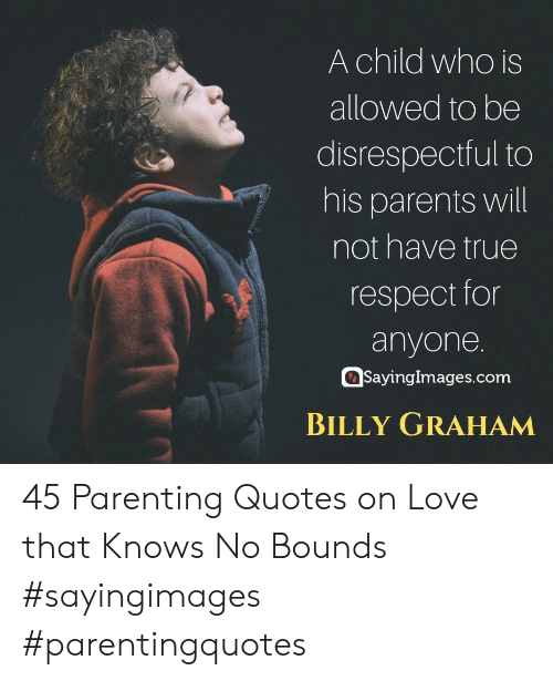A Child Who Is Allowed to Be Disrespectful to His Parents ...