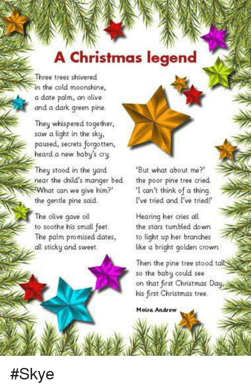 A Christmas Legend Three Trees Shivered in the Cold Moonshine a Date ...