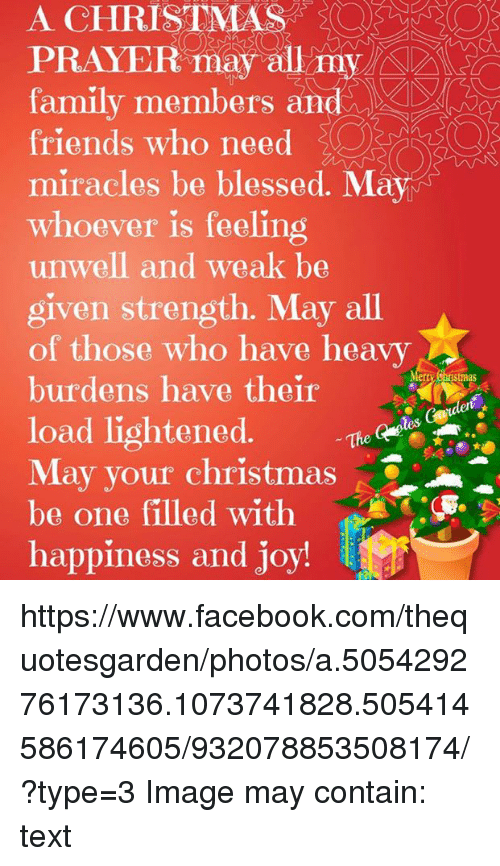 A Christmas Prayer.A Christmas Prayer Anna Family Members And Friends Who Need
